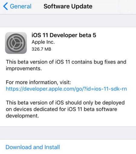 ios11beta5怎么样 更新了什么