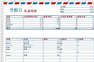 企业节假日礼品派发记录明细列表