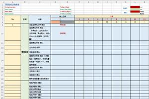 活动项目实行进度表模板
