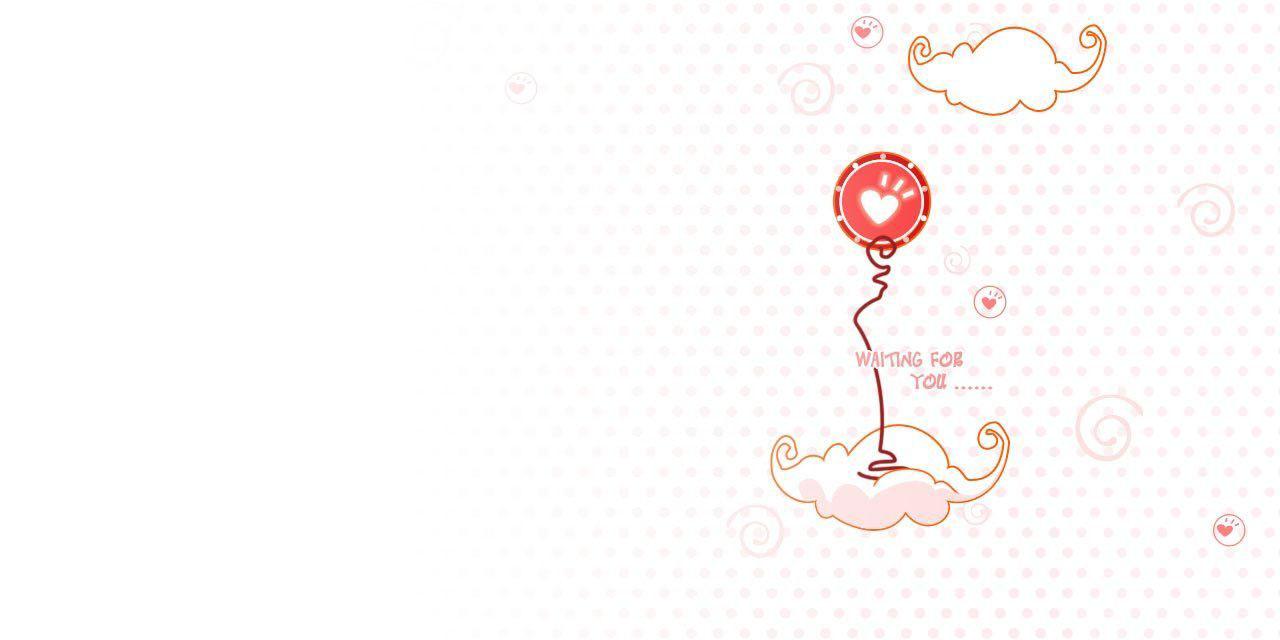 ppt模板 ppt素材 卡通云朵挂心型气球ppt背景图片