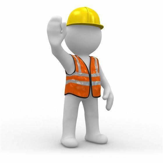 工地建筑道路维修系列3d小人ppt素材图片