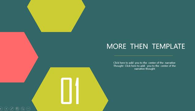 这是一套五边形创意封面简约扁平化实用商务ppt模板,喜欢的人都来管理