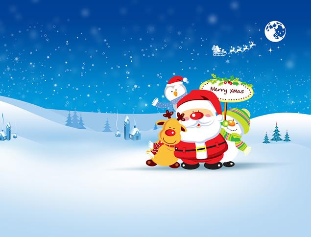 这是一套唯美矢量雪景蓝色圣诞节ppt模板,喜欢的人都来管理资源吧下载图片