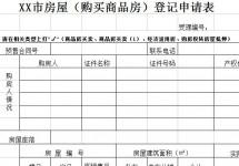 购买商品房产权登记申请表excel模版下载