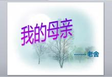 粤教版老舍《我的母亲》优秀课件PPT免费下载