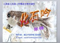 人教版七上语文《化石吟》教学课件PPT免费下载