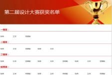 获奖名单通用表格excel模板下载