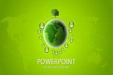 绿色地球创意商务工作汇报ppt模板