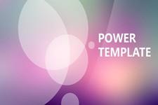 创意封面朦胧紫背景简约iOS风格ppt模板