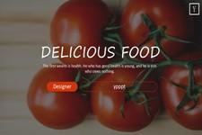 新鲜蔬菜食材PPT模板