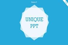 小清新色彩超简洁PPT模板