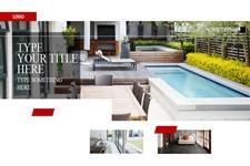 室内装修及建筑效果展示时尚画册ppt模板