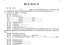 股东协议书合同