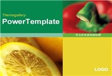 绿色蔬菜水果背景ppt模板