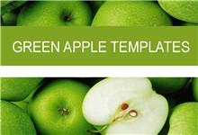 清新绿色水果背景PPt模板