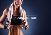健身运动主题人物背景PPT模板