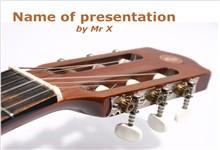 音乐主题吉他特写背景ppt模板