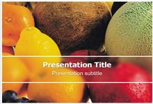 精美营养水果背景ppt模板