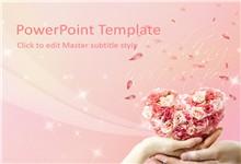 粉色浪漫爱情婚礼主题ppt模板
