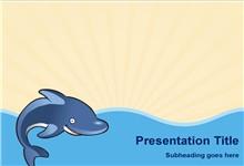 矢量卡通鲸鱼背景ppt模板