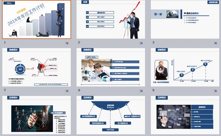 医院医疗机构年度工作计划总结ppt模板