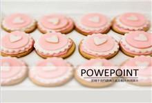 爱心小点心食物食品ppt模板