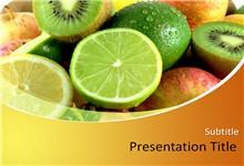 各种新鲜水果背景ppt模板