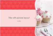 尊贵配色温馨甜点展示介绍ppt模板
