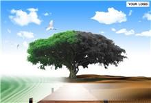 创意大自然风景主题抽象环保ppt模板
