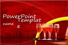 葡萄酒行业主题红酒产品介绍ppt模板