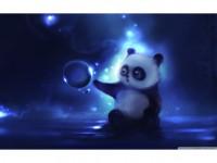 手绘可爱小熊猫PPT模板