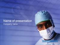 蓝色大夫医学行业PPT模板