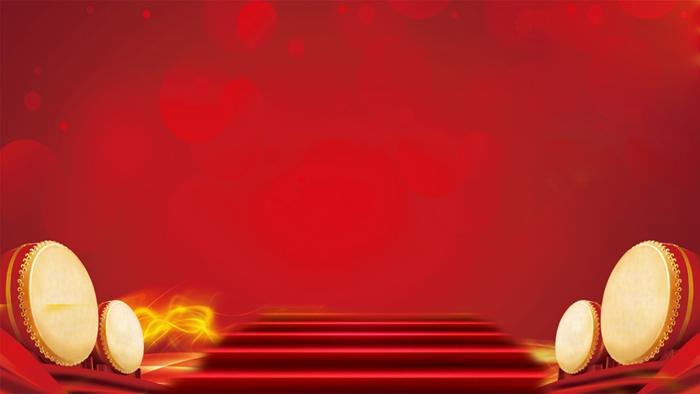 喜庆中国年红毯阶梯PPT背景