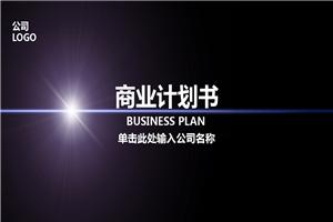 2019灰紫色扁平化商业计划书PPT模板