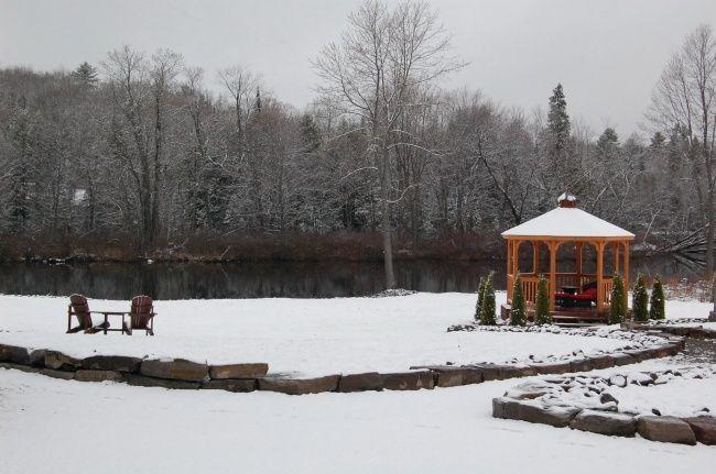 冬季凉亭雪景图片
