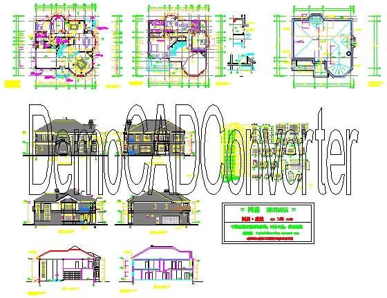 以下是《钢结构别墅建筑cad图纸》简单预览,如果需要完整的c