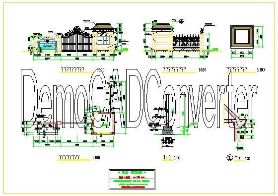 管理资料 工程管理 工程图纸 大门与围墙cad图纸           以下是