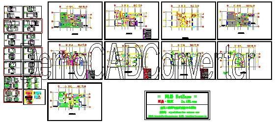 高档住宅精装修设计方案cad图纸
