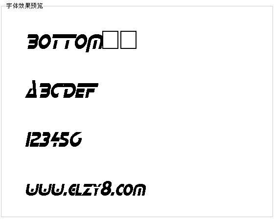 BOTTOM字体