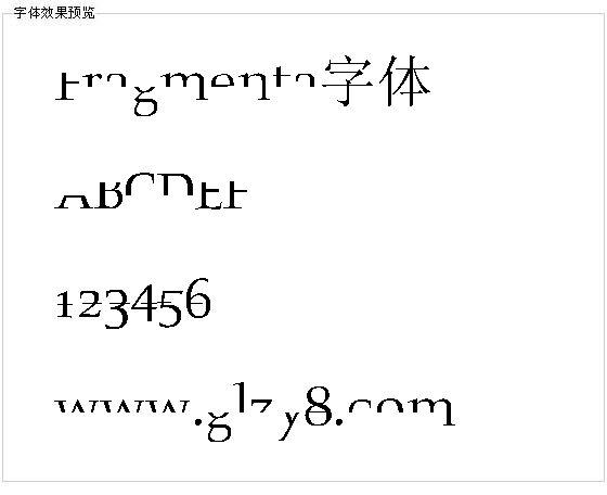 Fragmenta字体