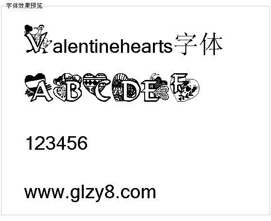 Valentinehearts字体