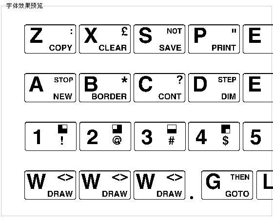 Zxspectrum字体