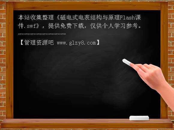 磁电式电表结构与原理flash课件