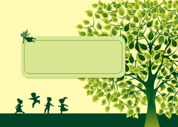 绿色与孩子ppt背景模板.ppt