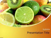 青柠檬新鲜水果PPT模板