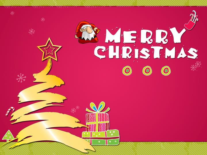 动感十足的圣诞节ppt模板设计