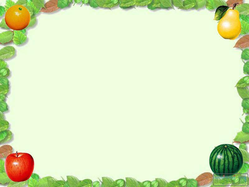 绿色淡雅水果ppt背景图片