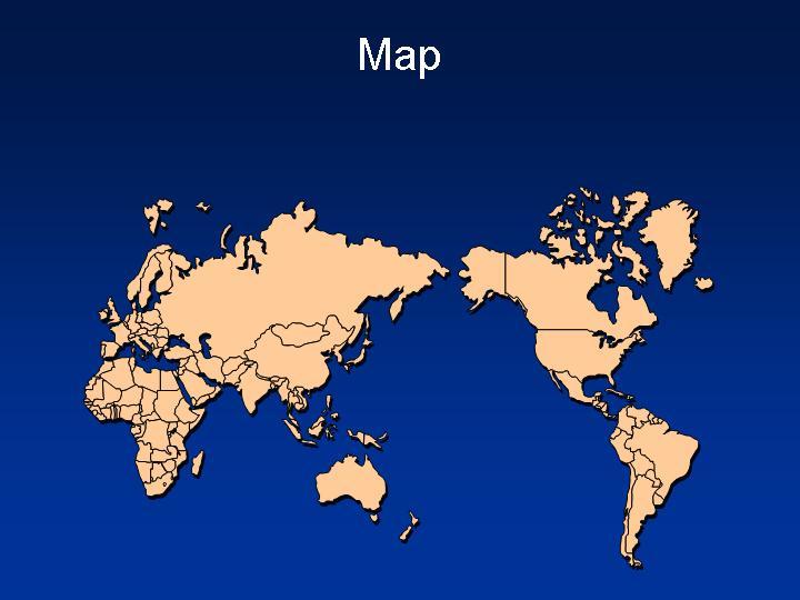 世界地图版块全景地图PPT模板