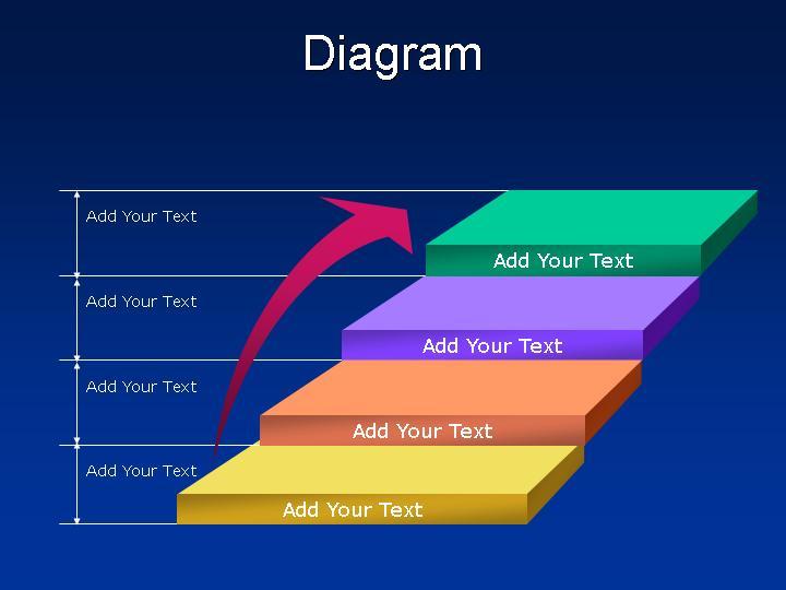台阶型标题ppt图表素材图片