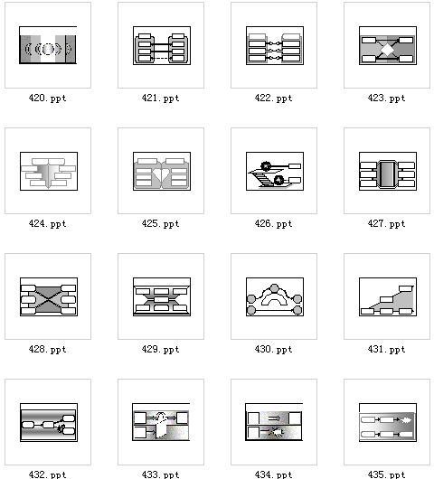 对比形ppt图表素材免费下载